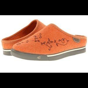KEEN | Trillium Slippers/Burnt Orange Wool Clogs